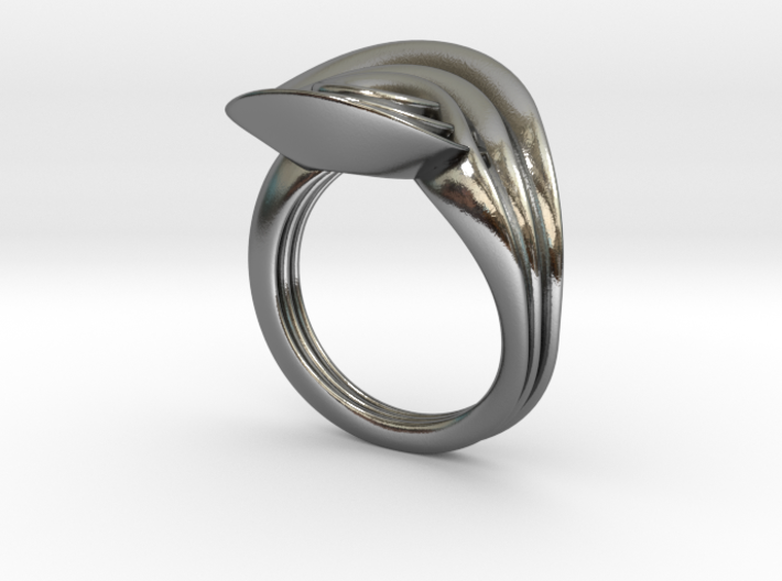 Masalla Curved Ring 3d printed