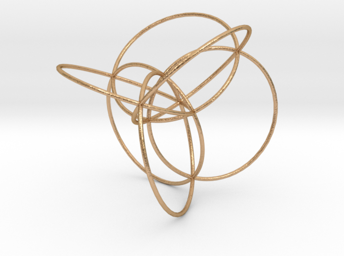 16-cell, stereographic projection 3d printed