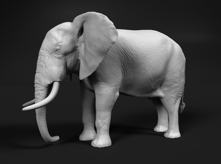 African Bush Elephant 1:160 Standing Male 3d printed