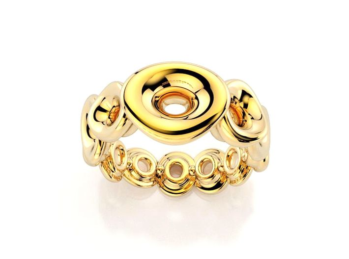 Ring Mo-At  Easy Avatar (From $14) 3d printed Octopus Golden Ring