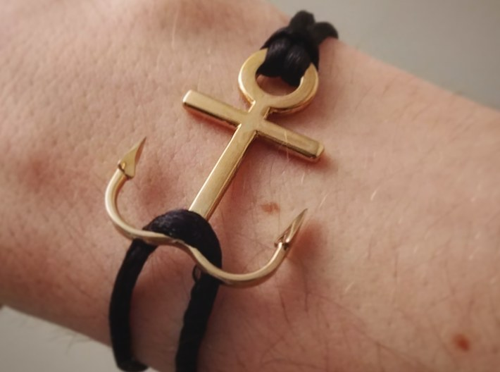 Anchor bracelet 3d printed