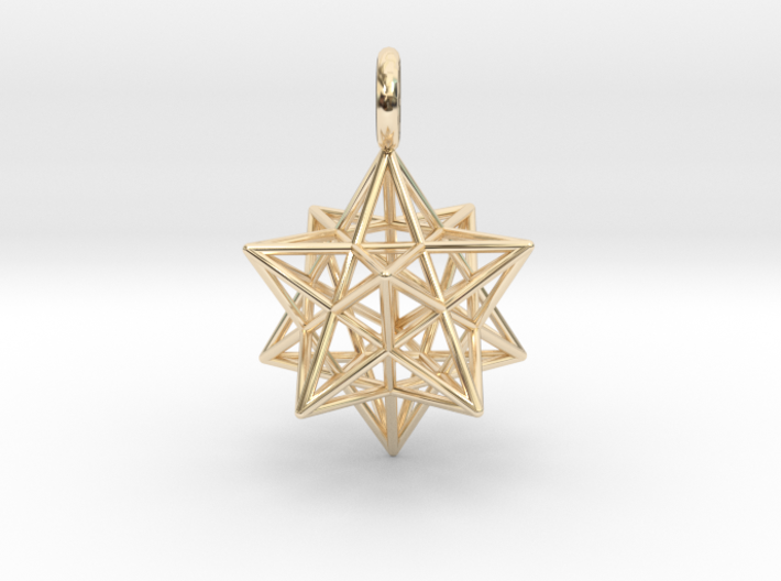 Stellated Dodecahedron 23mm 3d printed