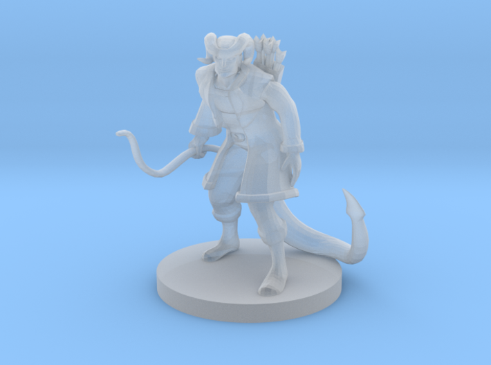 Tiefling Male Monk with Bow 3d printed