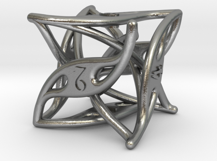 Curlicue 6-Sided Dice 3d printed
