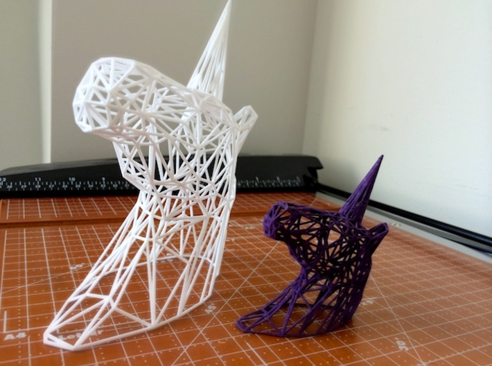 Wire Unicorn Head Statue: 3 Inch 3d printed