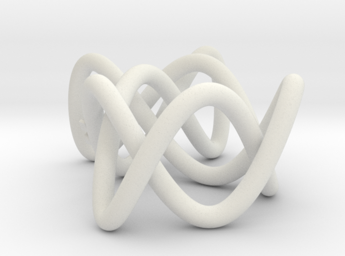 Lissajous Three-Twist Knot 3d printed