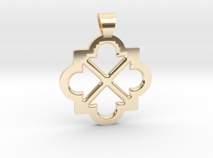 Eight arrows [pendant] 3d printed
