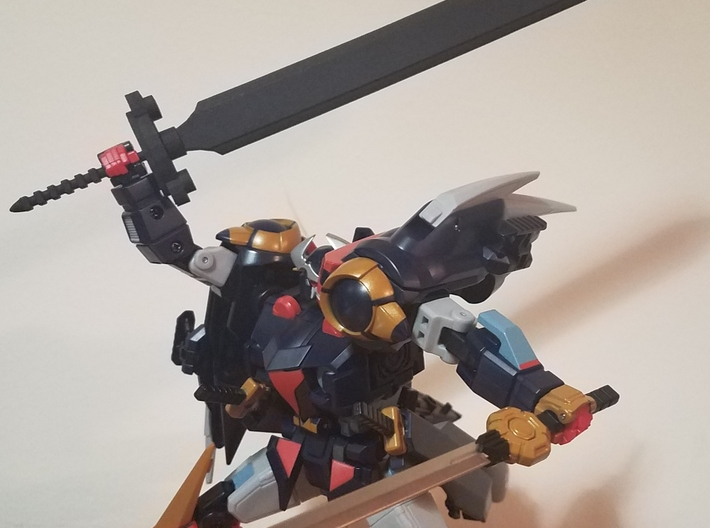 Mighty Hanzo Sword 3d printed