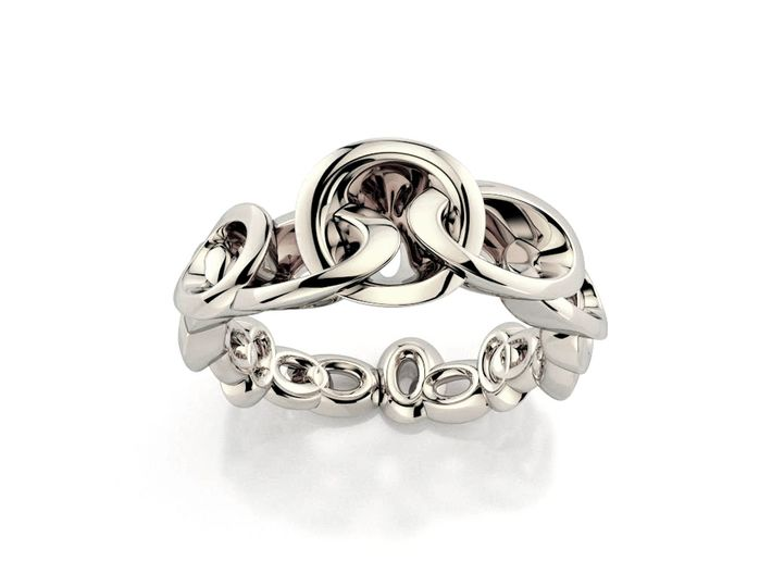 Neitiri Easy Love Ring (From $19) 3d printed Silver chain ring