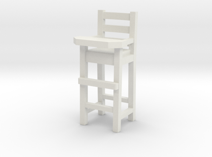 1:48 Baby High Chair 3d printed