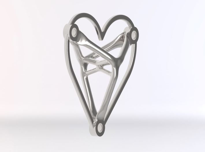 Necklace Heart - Generative Design 3d printed