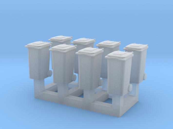 Trash bin set C ( 8 pcs ) 1:150 scale 3d printed
