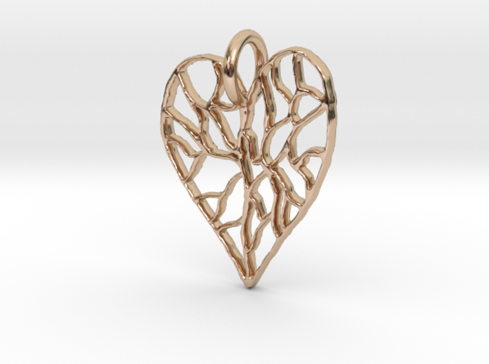 Cracked Heart Pendant 3d printed