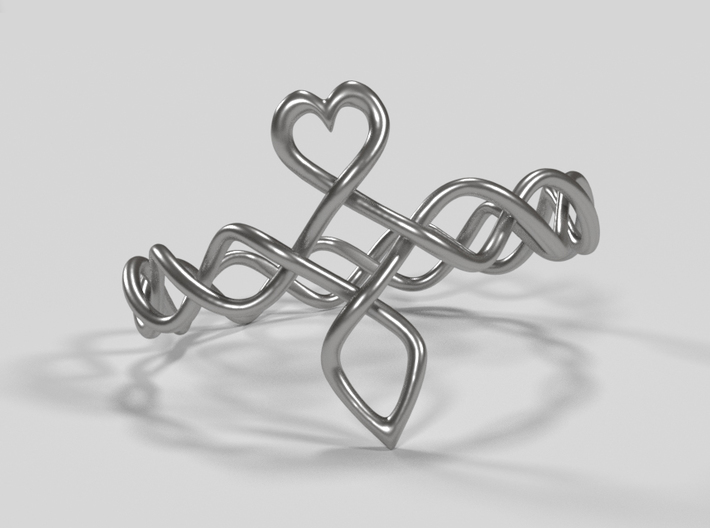 Celtic Love Ring 3d printed Front view