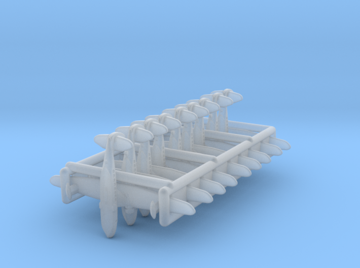 Sikorsky S-43/JRS-1 nine-piece set set 3d printed the pieces are caged together to avoid loss and damage - NO SPRUES to cut away!