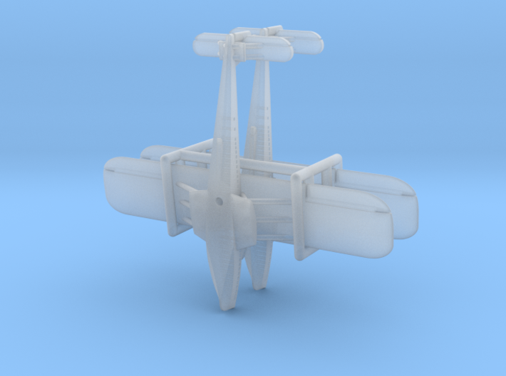 Dornier Do X  Flying Boat Set 3d printed the pieces are caged together to avoid loss and damage - NO SPRUES to cut away!