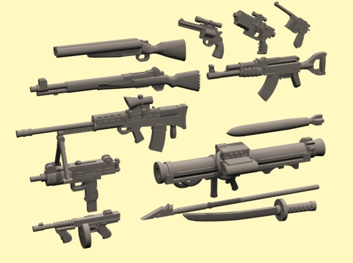 28mm Wastefall weapons 2 3d printed