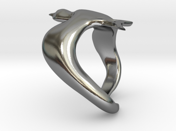 Bird On Wing Ring S 6 us 3d printed