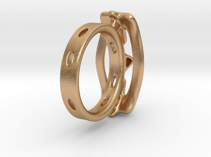 Abstract curved Ring 3d printed