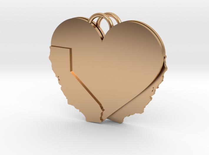 California Heart Earrings 3d printed