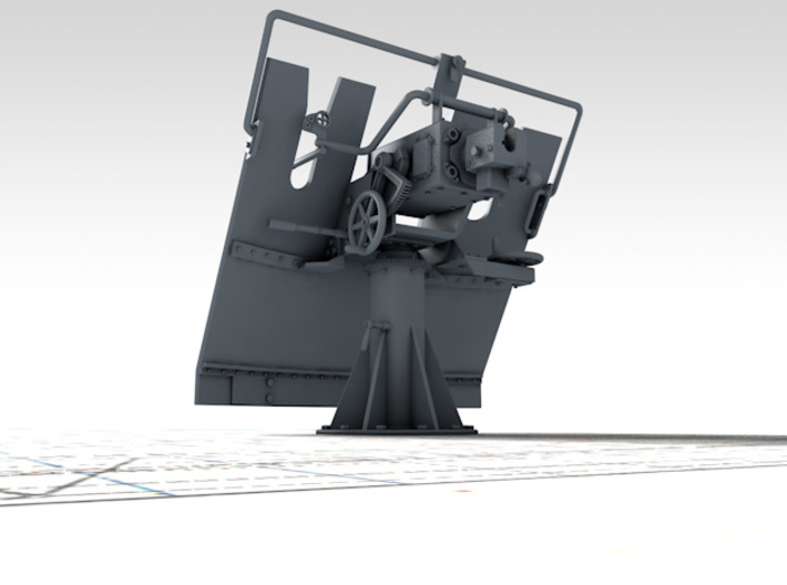 "1/144 3-pdr 1.85""/40 (47 mm) MKV Mounting 3d printed 3D render showing product detail"