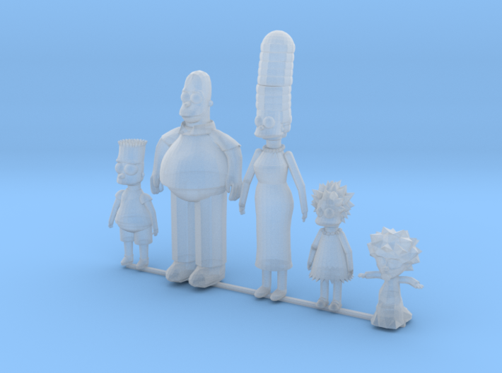 Comic Family including baby 3d printed