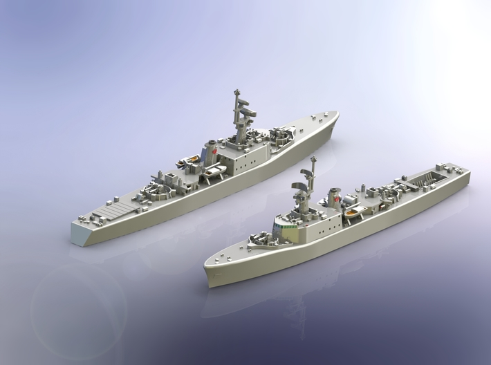 Destroyer Escort HMCS Fraser 1957 1/700 3d printed 1 Model
