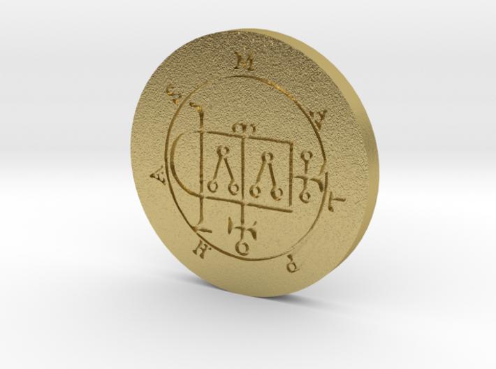 Malphas Coin 3d printed