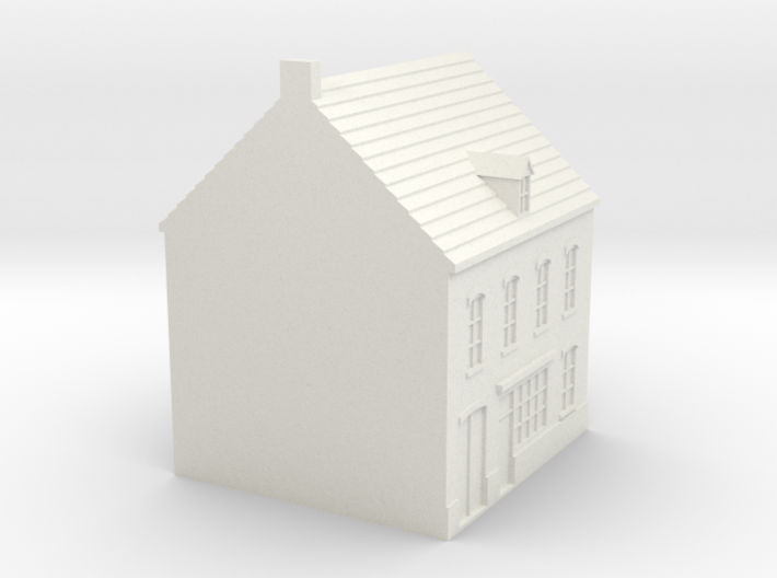 1/350 Town Building 1 3d printed