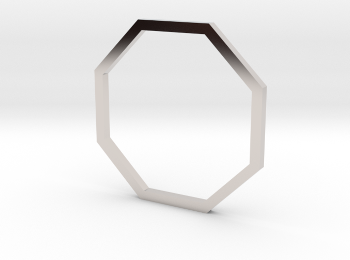 Octagon 16.30mm 3d printed
