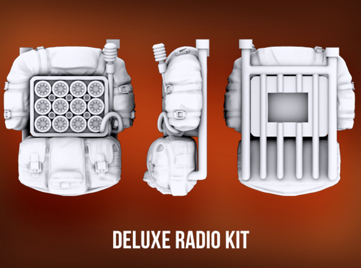 Deluxe Radio Kit 3d printed