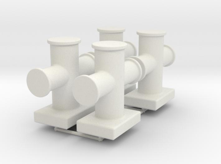 Cruciform bollard type 400 - 1:50 - 4X 3d printed
