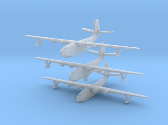 Martin JRM1 Mars Set of Three in 1/1250 & 1/1200th 3d printed Martin JRM1 Mars in 1/1250 scale by CLASSIC AIRSHIPS