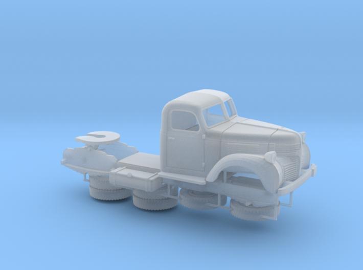 S scale 1/64 - Dodge Semi Tractor 3d printed