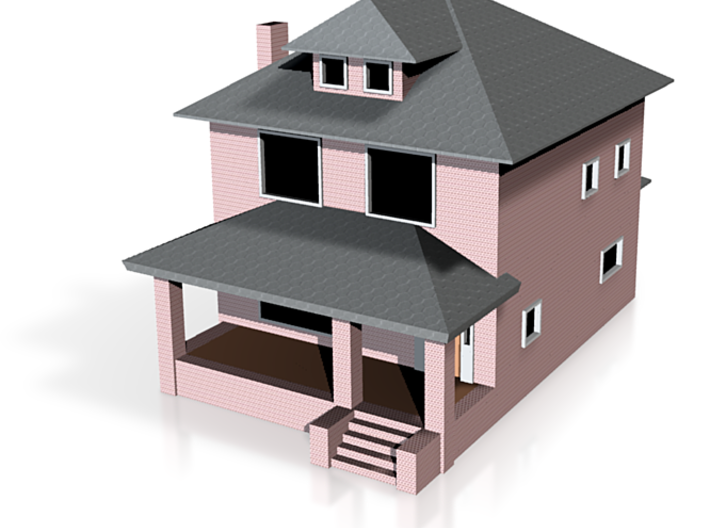 Sears Rockford House - Zscale 3d printed