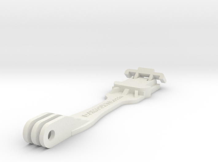 Invisible Selfiestick With Tripple Holes For GoPro 3d printed