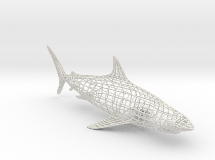 SHARK Wireframe XXL 3d printed