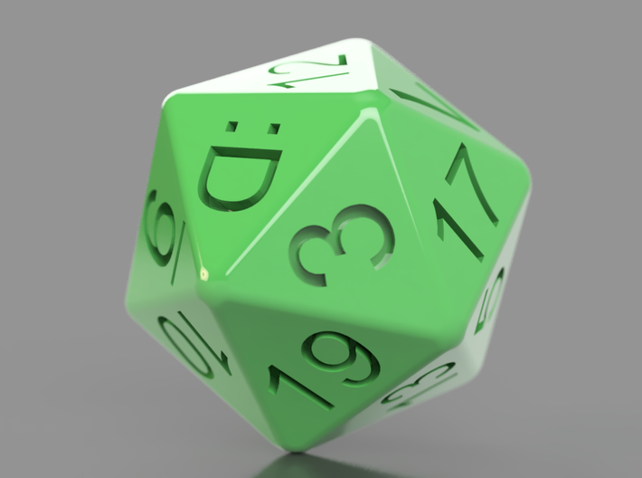 D20 Custom Sides 20mm 3d printed