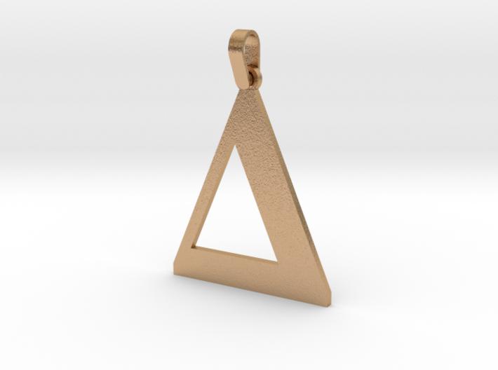 Delta Sign Letter Pendant 3d printed