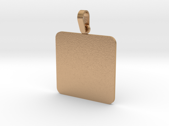 Pendant Base Squared 30 mm X 30 mm 3d printed