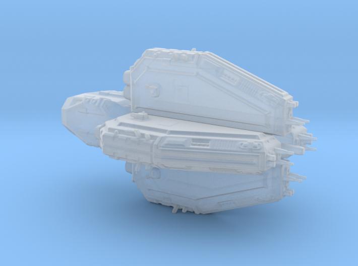 Sci fi destroyer Marucan Class 3d printed