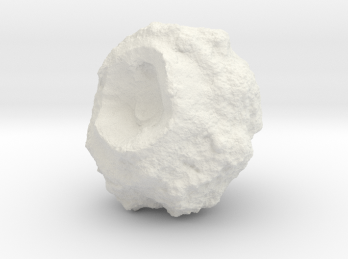 Battle-Scarred Asteroid for 2/6mm Space Battles 3d printed
