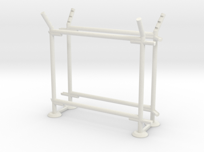 10' Fence Frame - 45 deg R/Out (2 ea.) 3d printed Part # CL-10-004
