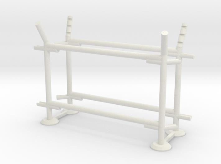 8' Fence Frame 45 deg. L/Out (2 ea.) 3d printed Part # CL-8-003
