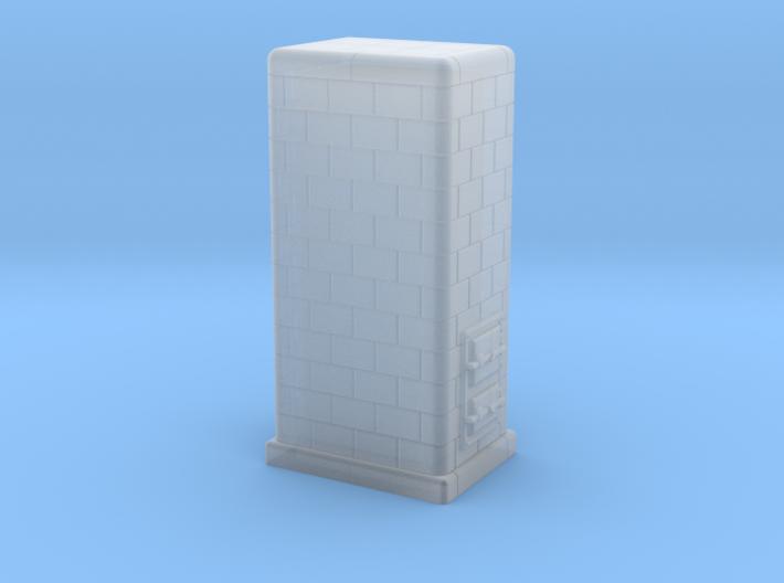 H0 Tiled coal-burning stove 1:87 (II) 3d printed