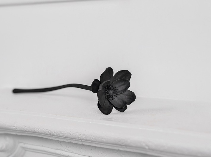 Dark Peony 3d printed Display on a table or shelf