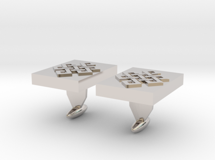 Endless knot cuff link 3d printed