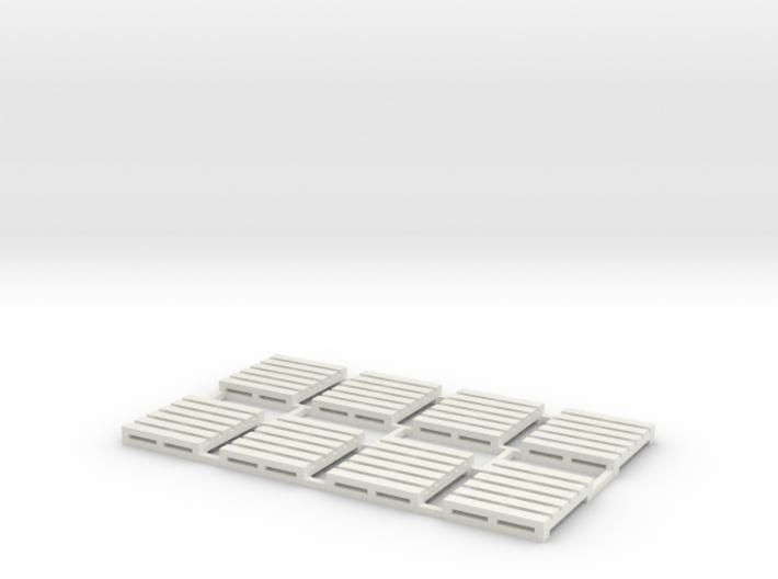 Pallet-3 (8 Ea.) (HO) 3d printed Part # PL-003