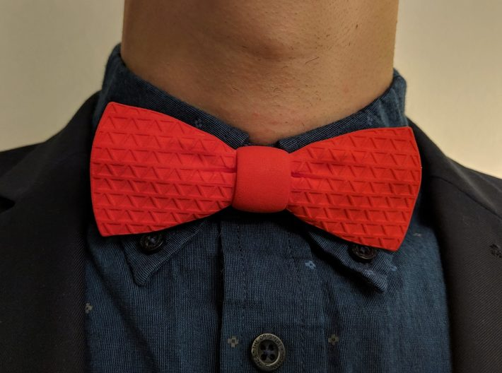 The Tri Bow Tie 3d printed Pair with any shirt combo really