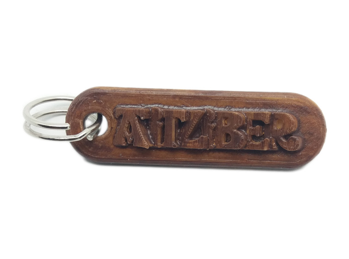 AITZIBER Personalized keychain embossed letters 3d printed